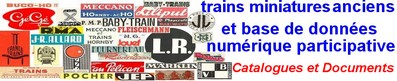Documentation trains miniatures anciens database catalogue
